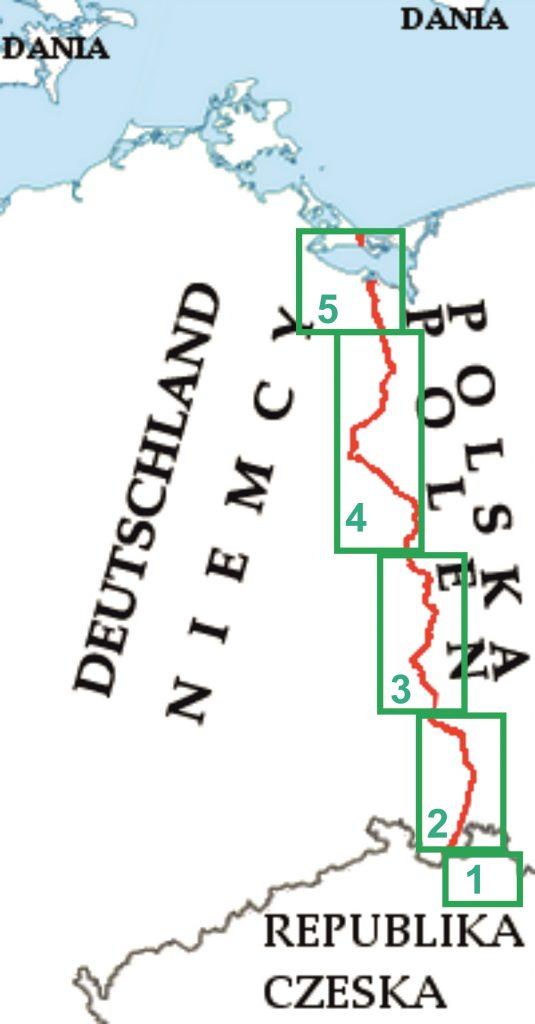 Schemat szlaku Odra - Nysa